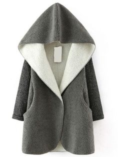Buy Grey Hooded Sweater Long Sleeve Loose Coat from abaday.com, FREE shipping Worldwide - Fashion Clothing, Latest Street Fashion At Abaday.com