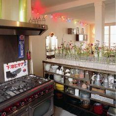 rangement cuisine, plan de travail en lave émaillée