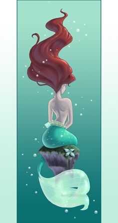 I want this tattooed on my shoulder but with Ariel looking over her shoulder.