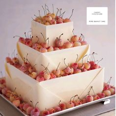 Cherry Cheesecake Rose Basket Cake - Martha Stewart's Wedding Cakes Architectural cake? Little oranges instead of cherries or orange slices?