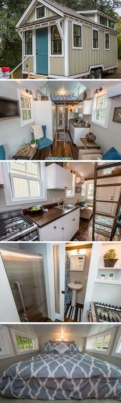 A tiny house from Driftwood Tiny Homes- sub a storage staircase for the closet and ladder?