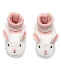 Velour Slippers | White/rabbit | KIDS | H&M US