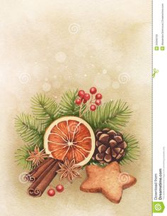 Watercolor Christmas Card Royalty Free Stock Images - Image: 34349159