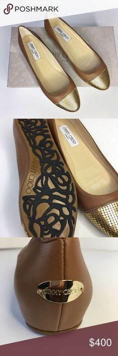 Jimmy Choo Waine Leather flats in canyon tan Details: * new with original box * no original dustbag * size 37 * Canyon leather * small flaw shown in photos * Originally $565 ✅ Offers using offer tool ✅ Jimmy Choo Shoes Flats & Loafers