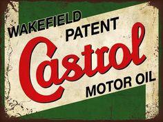 Vintage Castrol Motor Oil Sign Porcelain Enamel Made By Bruton Palmers Green Car Signs, Garage Signs, Garage Art, Castrol Oil, Vintage Metal Signs, Vintage Man, Vintage Auto, Vintage Racing, Vintage Style
