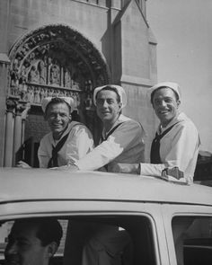 Frank Sinatra, Jules Munshin and Gene Kelly, promo for On The Town