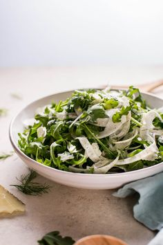 This baby arugula, fennel, and Manchego cheese salad comes together fast and is fresh, healthy, and full of flavor!