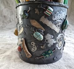 Small Hodgepodge Pot 3 by DiPiazzaMetalworks on Etsy