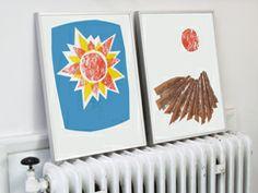 Sun & Ploughed Field prints Screenprinting, Printing Process, Bookends, Sun, Traditional, Retro, Prints, Handmade, Beautiful