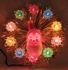Vintage Plastic Santa Tree Topper 1960s by hmdavid, via Flickr  we had one similar to this growing up.