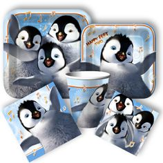Happy Feet 2 party supplies from www.discountpartysupplies.com