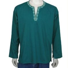 Men Comfortable Clothing Cotton Shirt Kurta India Size M Chest 40 inches (Apparel)  http://www.picter.org/?p=B007CTT206