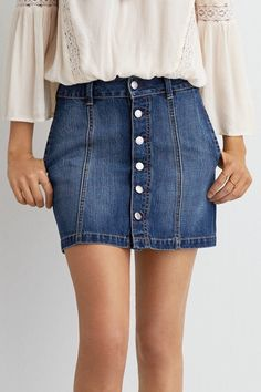 American Eagle Outfitters American Eagle Button Down Denim Skirt