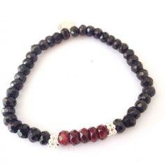 gohi granát a ónyx Beaded Bracelets, Jewelry, Jewellery Making, Jewlery, Jewelery, Pearl Bracelets, Jewerly, Fine Jewelry, Jewels