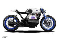Cafe Racer Pasión — BMW Cafe Racer design by 271 Design Bmw Cafe Racer, Moto Cafe, Cafe Bike, Cafe Racer Motorcycle, Motorcycle Design, Bike Design, R65, Bmw Scrambler, Bmw Boxer