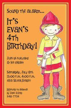 Kids Birthday Invitations - partyinvitations.com Birthday Invitations Kids, Free Paper, 4th Birthday, Invitation Design, Boys, Baby Boys, 4th Anniversary, Senior Boys, Sons