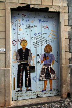 The painted doors of Old Funchal, Madeira