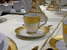Fine Porcelain Cup & Saucer from Porcel's Auratus Collection