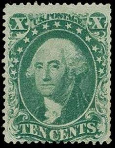 United States 1857-61 Issue, Scott 31, 1857 10c Green, Type I, unused, three tiny black ink specks on front that are not from a cancel, Very Good; 2008 PSE certificate (Scott $11,500)