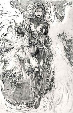 Jean Grey - Phoenix by Philip Tan Comic Book Artists, Comic Book Characters, Comic Artist, Comic Books Art, Jean Grey Phoenix, Dark Phoenix, Phoenix Force, Marvel Comic Character, Character Art