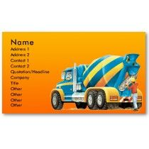 Cement Mixer Business Card by Paul Stickland for TruckStore on Zazzle #trucks