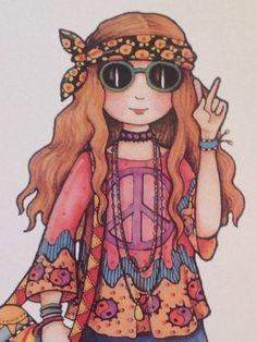 Peace and love Hippie Style, Hippie Love, Hippie Chick, Hippie Things, Mundo Hippie, Estilo Hippie, Hippie Peace, Happy Hippie, Mary Engelbreit