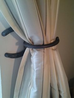 Horseshoe Curtain & Drape Holder Tie Back Holdback! SET OF 2! Rustic Country Living Cabin Decor on Etsy, $25.00