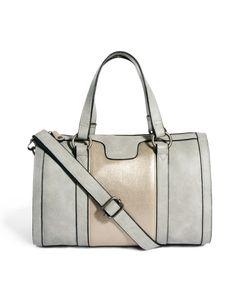 Pieces Aurelia Gray Bowler Bag