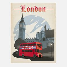 Shelby Rodeffer & Joel Anderson: World Travel London 18x24