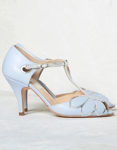 Rachel Simpson Mimosa powder blue wedding t-bar shoes £195