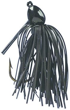 Strike King Bitsy Bug Mini Jig Bait (Black, 0.0625-Ounce)  http://fishingrodsreelsandgear.com/product/strike-king-bitsy-bug-mini-jig-bait/?attribute_pa_color=black&attribute_pa_size=0-0625-ounce  Premium silicone skirt gives more action than a soft plastic body. Fiber weedguard helps prevent line from being cut like it can on wire guards. Inverted line tie on the upper part of head helps keep line from being frayed on rocks.