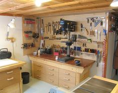 My basement workshop - article on setting up a workshop