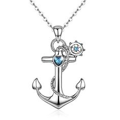 Sterling Silver Rhodium Plated Synthetic CZ Fleur de Lis Ornament with Lobster Clasp Charm 0.4in