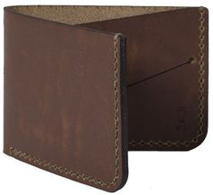 Picture of Winter Session 'Billfold' wallet in tobacco brown
