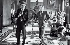 Yves Saint Laurent et Pierre Bergé, en 1982, rue de Babylon. We had a Berlin Wall between us. I never interfered with his creative design for commercial reasons and he never came to me to talk about money. Ever.