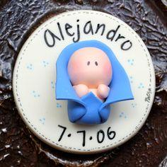 Birth Announcements  Baptism Favor Keepsake Magnets por gavo, $5.00