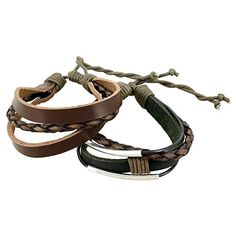 Indian Leather Rope Black and Brown Bracelet for Men Layered Mixed Bracelet - Handmade Accessories. TRENDY LOOK Black and Brown bracelet for men is a layered wrap design, one of the hottest jewelry trends. COOL, EDGY DESIGN bracelet accents give it a rock star quality. ARTISAN CRAFTED Our handmade bracelets are made from the finest of materials in India. PERFECTLY ADJUSTABLE SIZE Stacked bracelet is to suit all men. GREAT GIFT FOR HIM Leather bracelet comes in a jute bag ready for wrapping…