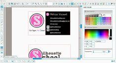Designing Business Cards in Silhouette Studio ~ Silhouette School