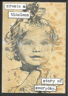 Stamped ATC by  http://lillibelles.blogspot.com Norwegian girl