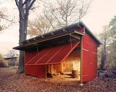 beautiful wood shed