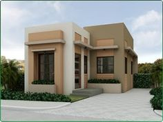 Philippines Affordable House and Lot For Sale - Sugarland Estates Model Monique Bungalow House Design, House Front Design, Small House Design, House Extension Plans, House Extension Design, House Siding, Facade House, Indian House Plans, Minimalist House Design
