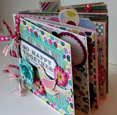 Scrapbook mini album girl daughter gift