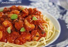 PANELATERAPIA - Blog de Culinária, Gastronomia e Receitas: Espaguete ao Molho de Camarão