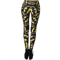 Legging Batman ❤ liked on Polyvore featuring pants, leggings, batman, bottoms, tights and legging pants