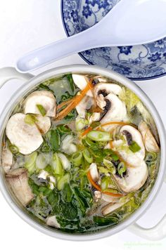 VEGETABLES AND CLEAR BROTH HOT POT ~ Good stock forms the basis of a good soup. This recipe is a real reviver. The soothing, comforting and gentle flavours of clear broth, will remind you how very delicate, simple food can be. This flavourful soup can be served as is or over rice noodles.