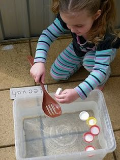 fine motor / core strength - fishing for _____ (colours, numbers, letters)