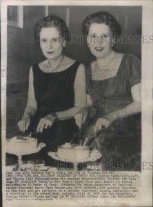 1958 Press Photo Gloria Vanderbilt Thelma Lady Furness