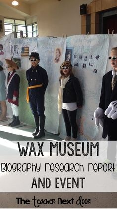 Lots of ideas here to help you organize a Wax Museum Biography Research Project. Awesome way to integrate social studies and reading and writing and the kids (and parents) really enjoy it too!