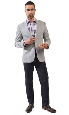 Kingston Pique 2 button sportcoat-grey