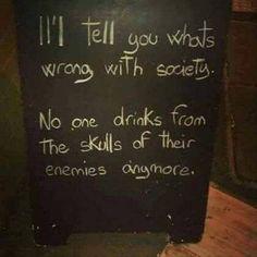 Drink from enemy skull